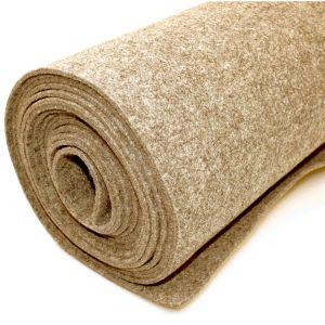 Vilt bekleed tapijt - Beige - 200 x 500 cm