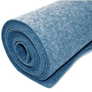 Vilt bekleed tapijt - Blauw - 200 x 500 cm