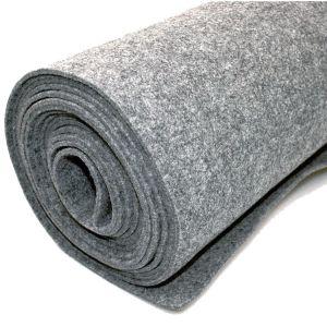 Vilt bekleed tapijt - Lichtgrijs - 200 x 500 cm