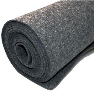 Vilt bekleed tapijt - Donkergrijs - 200 x 500 cm